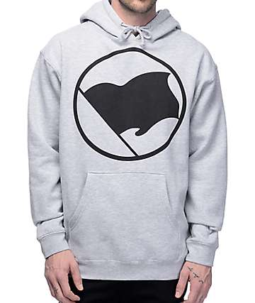 Black Scale Blvck Flag Grey Hoodie