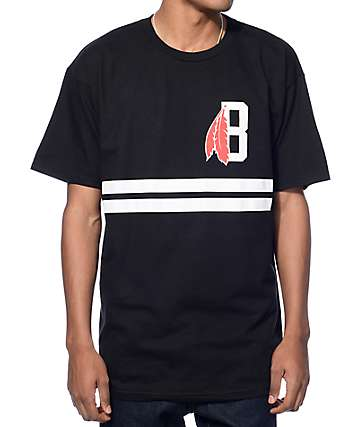 Black Scale Classic B Feather Logo Black T-Shirt