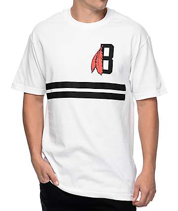 Black Scale Classic B Feather Logo White T-Shirt