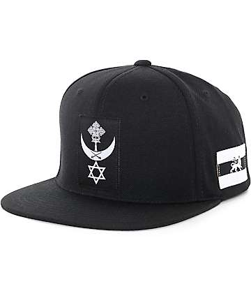 Black Scale Conquering Lion Black Snapback Hat