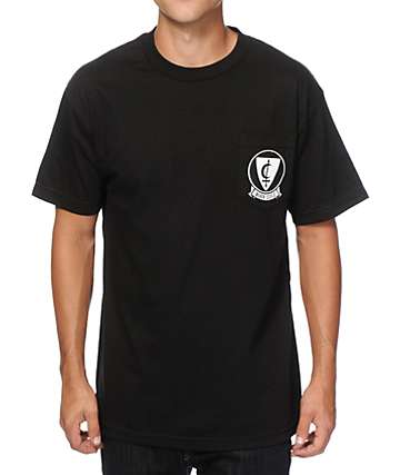 Black Scale Crescent Shield Pocket T-Shirt