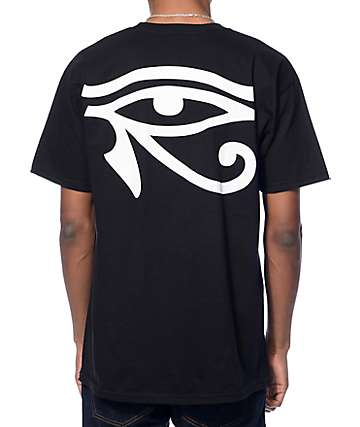 Black Scale Moon Of Ra Logo Black T-Shirt