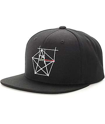 Black Scale Naturgvvo Black Snapback Hat