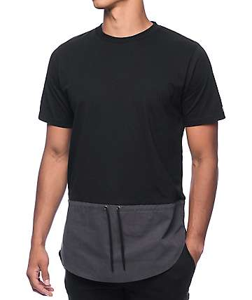 Black Scale Nautical Black & Grey T-Shirt