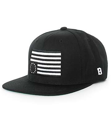 Black Scale Rebel Flag Snapback Hat