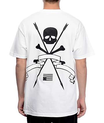 Black Scale Resistance White T-Shirt