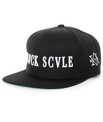 Black Scale Traditional Logo Snapback Hat