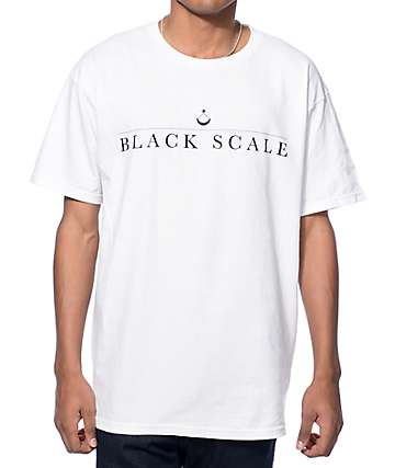 Black Scale Traditional Logo Type White T-Shirt