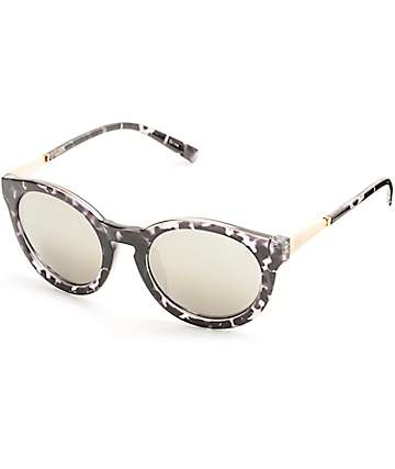 Black Tortoise Round Sunglasses