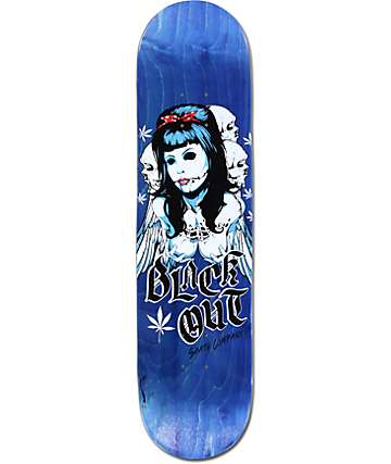 "Blackout Angel 8.0""  Skateboard Deck"