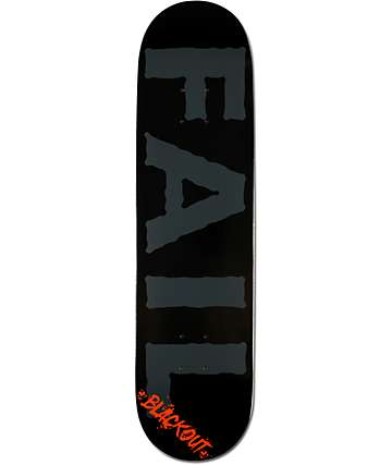 "Blackout Fail 8.0""  Skateboard Deck"