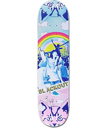 "Blackout Riot Girl 7.75""  Skateboard Deck"