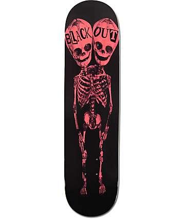 """Blackout Two Heads Red Bones 8.0"""" tabla de skate"""