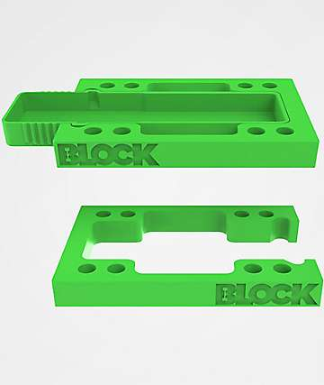 Block Risers Stash Block Green Riser Pads
