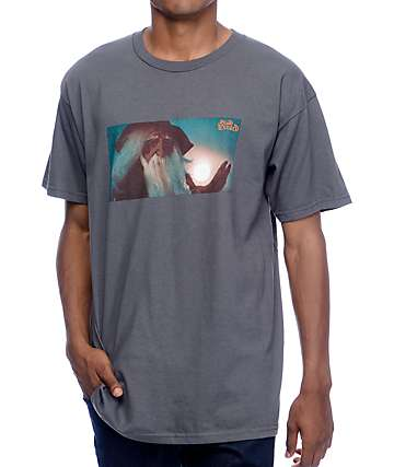 Blood Wizard Conjuring camiseta en gris carbón