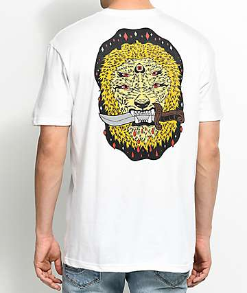 Blood Wizard Friends Of The Forest Lion White T-Shirt