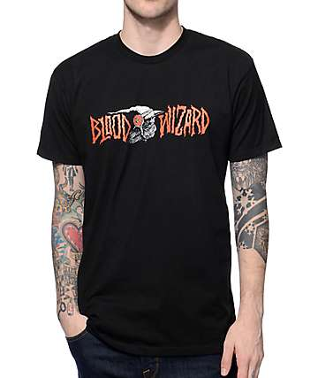 Blood Wizard Infernal Death Black T-Shirt