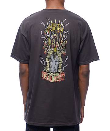 Blood Wizard Throne Tar Black T-Shirt