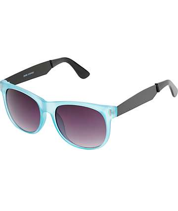 Blue & Black Translucent Classic Sunglasses