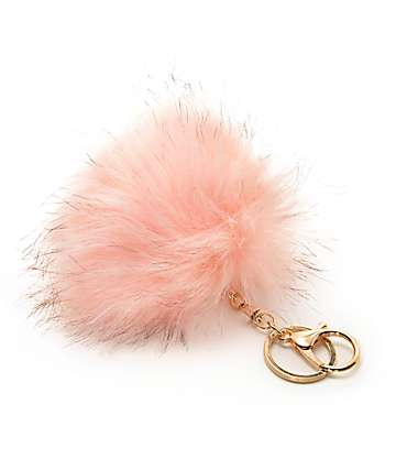 Blush Fuzzy Bag Charm