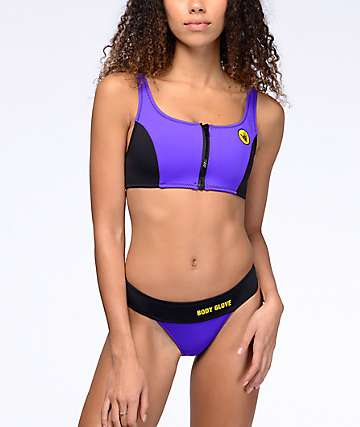 Body Glove Shout Goofy Grape High Waist Bikini Bottom
