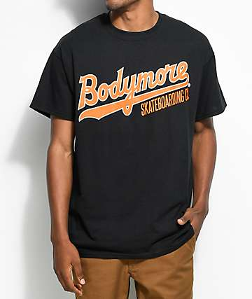 Bodymore Skate Logo Black & Orange T-Shirt