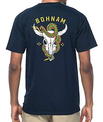 Bohnam Gorge Navy T-Shirt