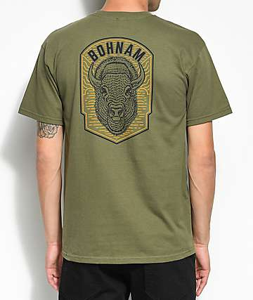 Bohnam High Plains camiseta en verde olivo