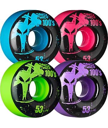Bones 100's Mixup 53mm Skateboard Wheels