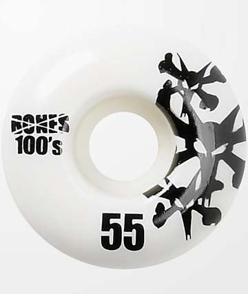Bones 100's Natural 55mm Skateboard Wheels