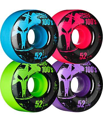 Bones 100s Mixup 52mm Skateboard Wheels