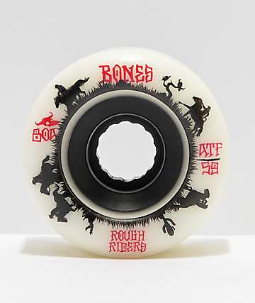 Bones ATF Roughriders 59mm White Skateboard Wheels
