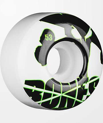 Bones Icons 53mm ruedas de skate blancos y verdes
