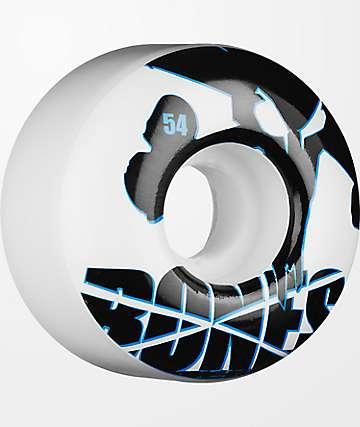 Bones Icons 54mm ruedas de skate blancos y azules