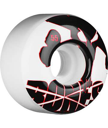 Bones Icons Red & White 55mm Skateboard Wheels
