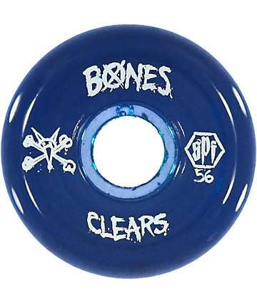 Bones SPF Clear Blue 56mm Skateboard Wheels