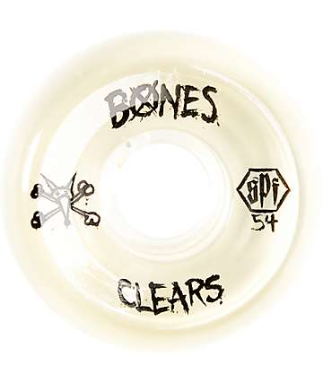 Bones SPF Clear Natural 54mm Skateboard Wheels