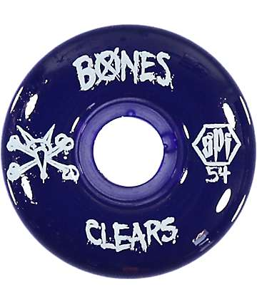 Bones SPF Clear Purple 54mm Skateboard Wheels