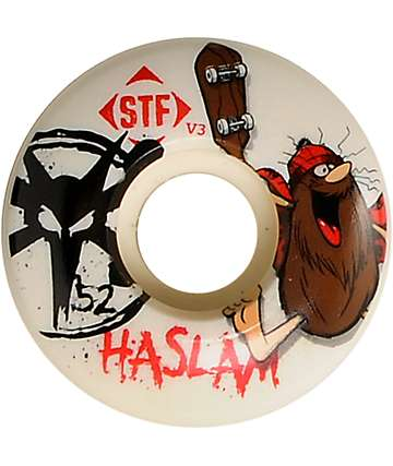 Bones STF Haslam Caveman 52mm Skateboard Wheels