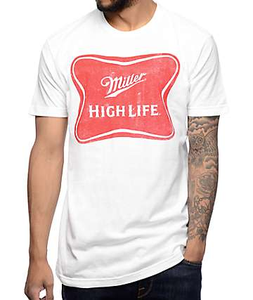 Brew City Miller High Life White T-Shirt