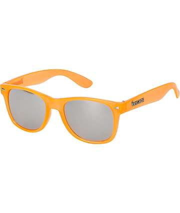 Brigada Lawless Clear Orange & Chrome Sunglasses