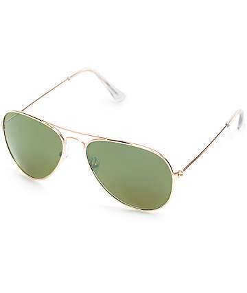 Bright Eyes All Gold Aviator Sunglasses