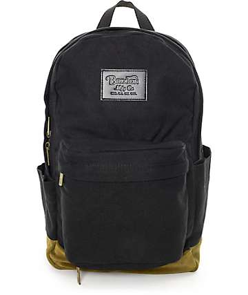 Brixton Basin Black & Olive 25L Backpack