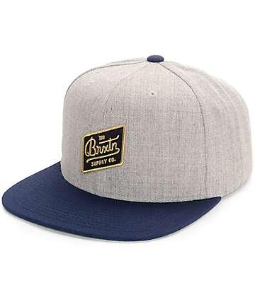 Brixton Bedford Grey & Navy Snapback Hat