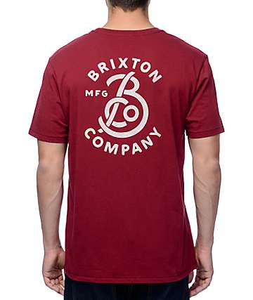 Brixton Brandish Burgundy Premium T-Shirt