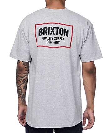 Brixton Brillo Heather Grey T-Shirt