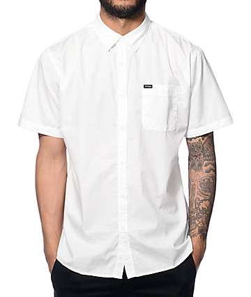 Brixton Central White Button Up Shirt