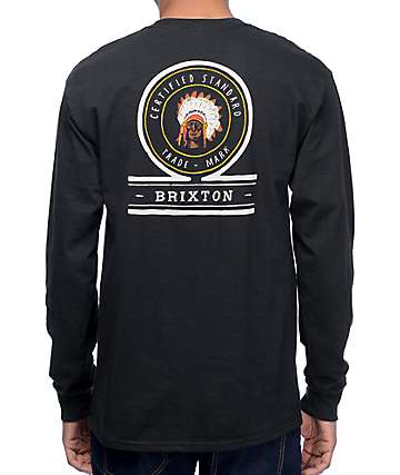 Brixton Crow Black Long Sleeve T-Shirt