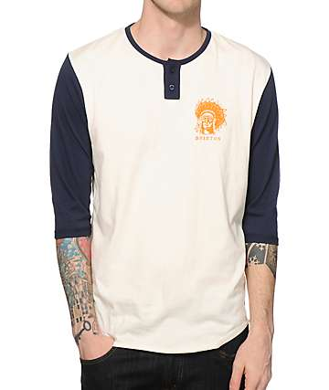 Brixton Crow Henley Baseball T-Shirt