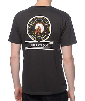Brixton Crow Washed Pocket T-Shirt